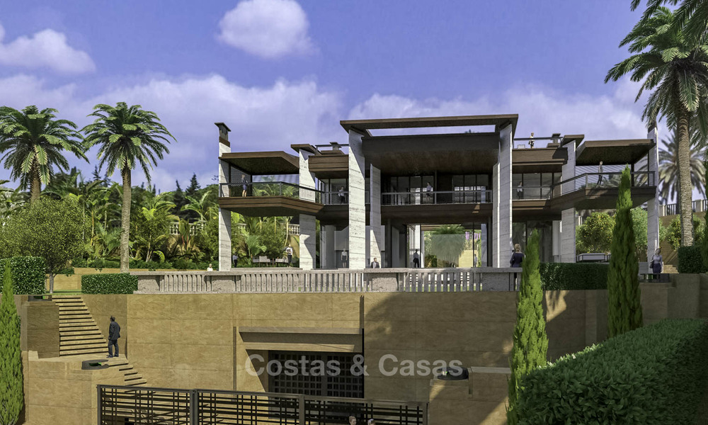 New mansion-style modern luxury villas for sale, walking distance to Puerto Banus, on the Golden Mile in Marbella 15315
