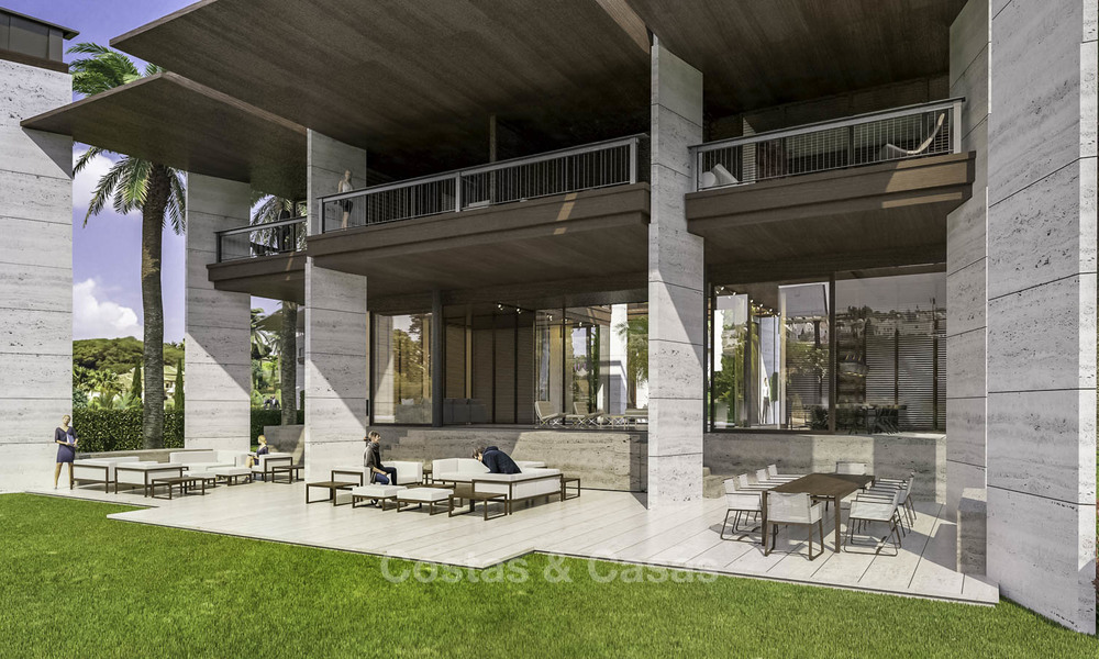 New mansion-style modern luxury villas for sale, walking distance to Puerto Banus, on the Golden Mile in Marbella 15316