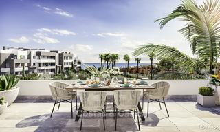 Attractive new modern apartments with unobstructed sea and mountain views for sale in Estepona 15336