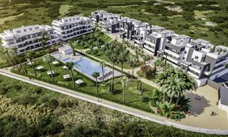 Attractive new modern apartments with unobstructed sea and mountain views for sale in Estepona 15339