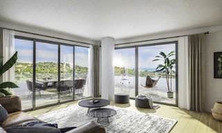 Attractive new modern apartments with unobstructed sea and mountain views for sale in Estepona 15340