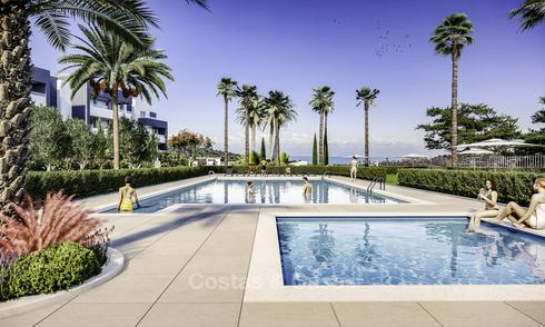 Attractive new modern apartments with unobstructed sea and mountain views for sale in Estepona 15342