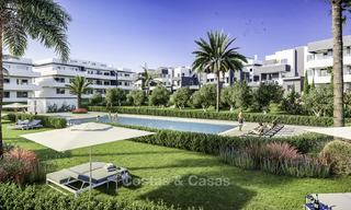 Attractive new modern apartments with unobstructed sea and mountain views for sale in Estepona 15343