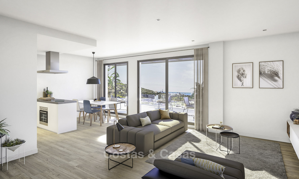 New modern apartments with sea views for sale, walking distance to the beach and amenities, Estepona 15373