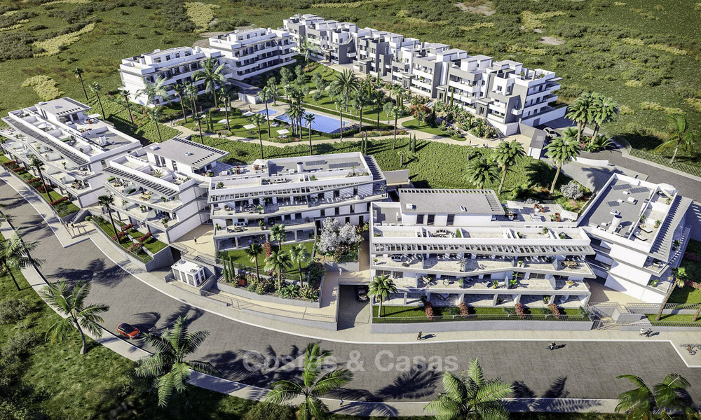 New modern apartments with sea views for sale, walking distance to the beach and amenities, Estepona 15375