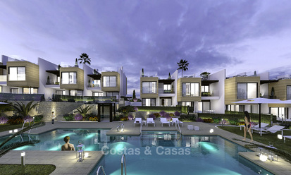 Elegant and luxurious new contemporary townhouses for sale, close to completion, Nueva Andalucia, Marbella 15379