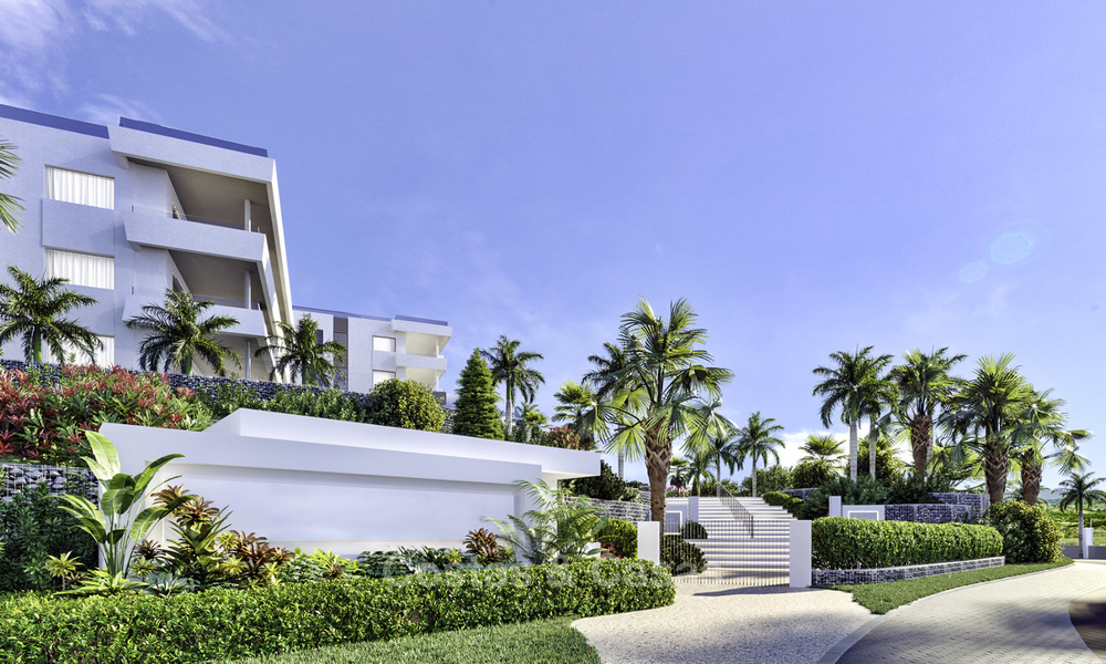 New deluxe frontline golf apartments with outstanding sea and golf views for sale in East Marbella 16763