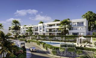 New deluxe frontline golf apartments with outstanding sea and golf views for sale in East Marbella 16764
