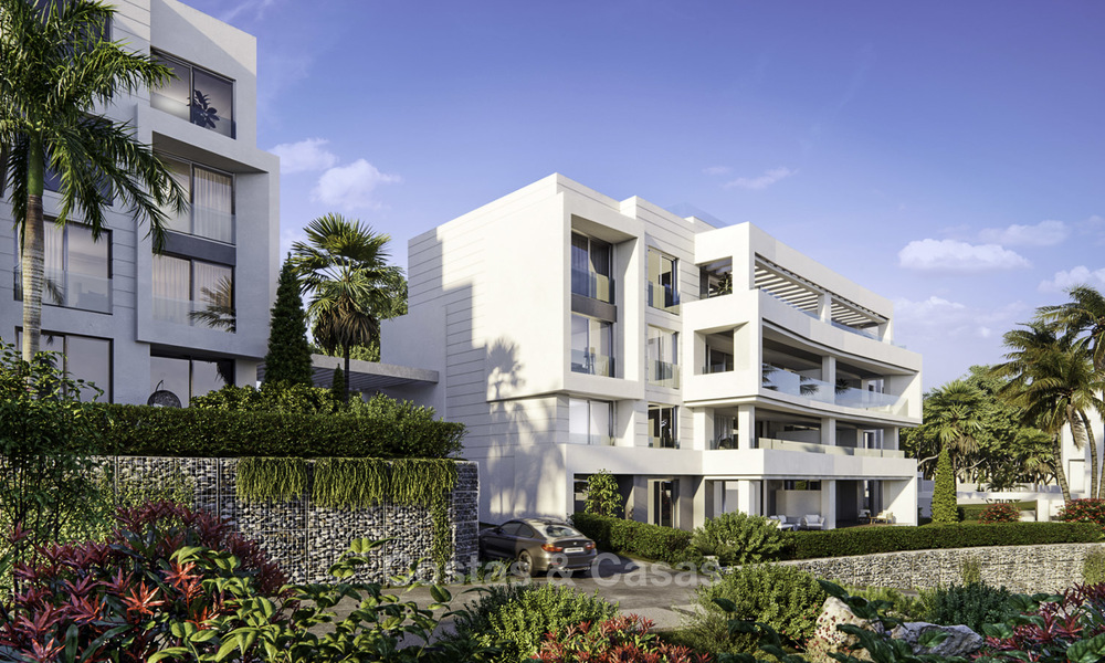 New deluxe frontline golf apartments with outstanding sea and golf views for sale in East Marbella 16765