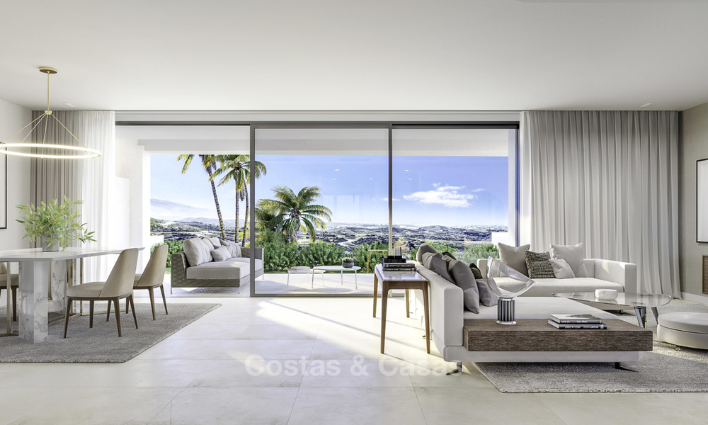 New deluxe frontline golf apartments with outstanding sea and golf views for sale in East Marbella 16769