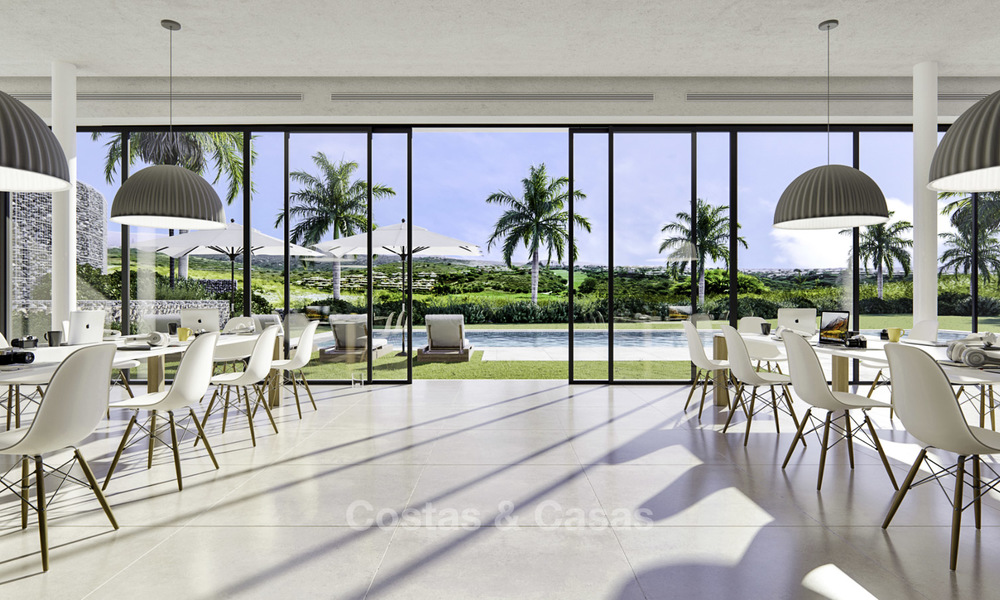 New deluxe frontline golf apartments with outstanding sea and golf views for sale in East Marbella 16770