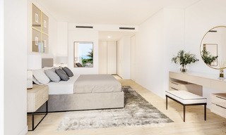 New deluxe frontline golf apartments with outstanding sea and golf views for sale in East Marbella 22190
