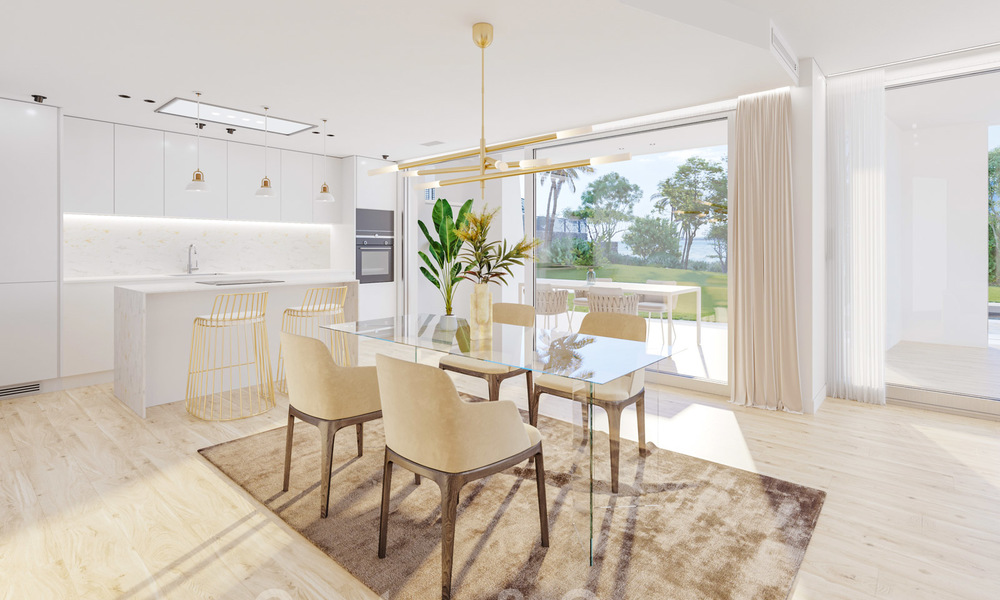 New deluxe frontline golf apartments with outstanding sea and golf views for sale in East Marbella 22194