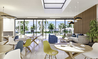 New deluxe contemporary townhouses for sale, front line golf, with stunning sea and golf views, East Marbella 16722