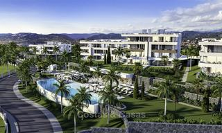 New deluxe contemporary townhouses for sale, front line golf, with stunning sea and golf views, East Marbella 16723