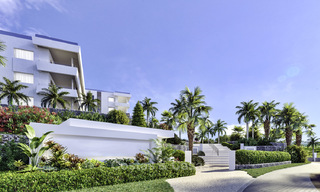New deluxe contemporary townhouses for sale, front line golf, with stunning sea and golf views, East Marbella 16724