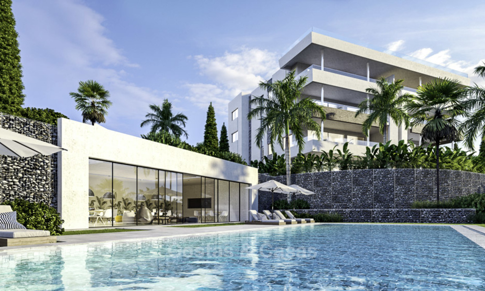 New deluxe contemporary townhouses for sale, front line golf, with stunning sea and golf views, East Marbella 16732