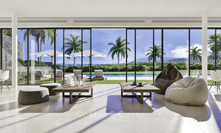 New deluxe contemporary townhouses for sale, front line golf, with stunning sea and golf views, East Marbella 16735