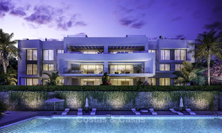 New deluxe contemporary townhouses for sale, front line golf, with stunning sea and golf views, East Marbella 16737