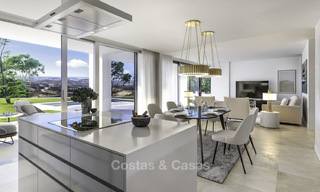 New deluxe contemporary townhouses for sale, front line golf, with stunning sea and golf views, East Marbella 16742