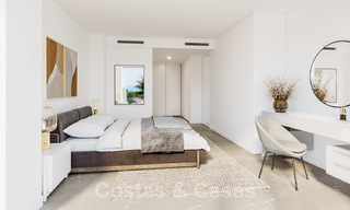 New deluxe contemporary townhouses for sale, front line golf, with stunning sea and golf views, East Marbella 22186