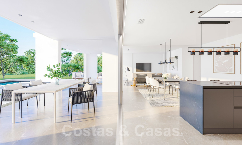 New deluxe contemporary townhouses for sale, front line golf, with stunning sea and golf views, East Marbella 22188