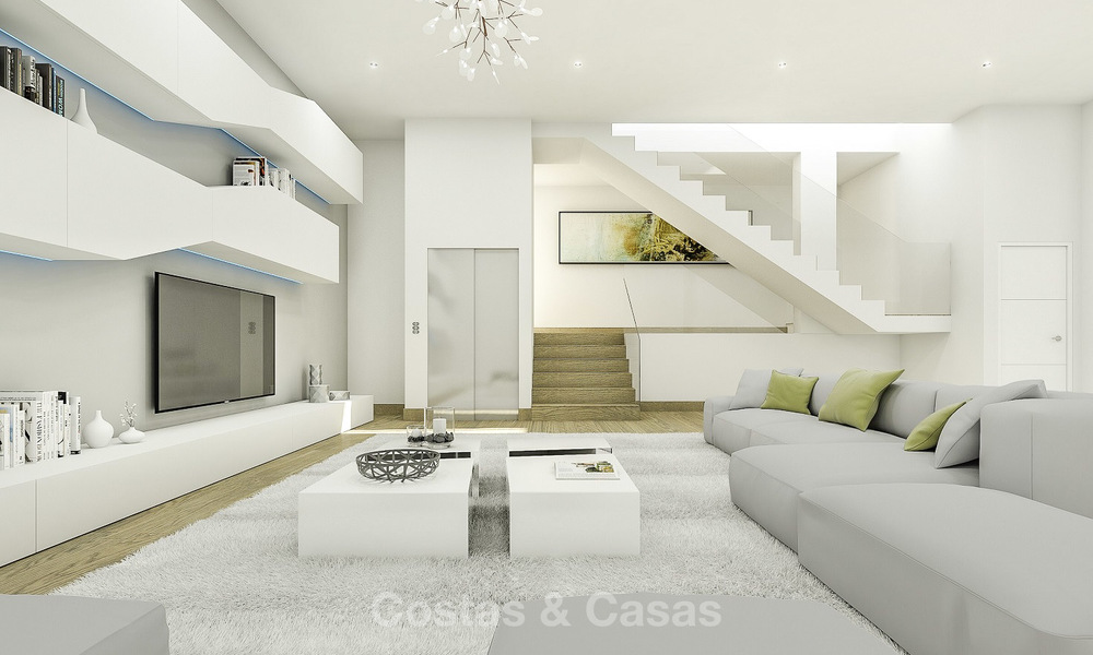 Very stylish avant gardist luxury villas with panoramic sea views for sale in Benalmadena 16714