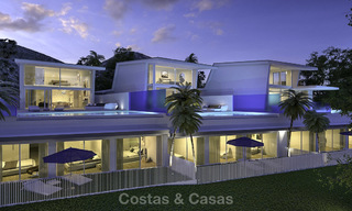 Very stylish avant gardist luxury villas with panoramic sea views for sale in Benalmadena 16716