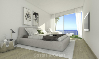 Very stylish avant gardist luxury villas with panoramic sea views for sale in Benalmadena 16717