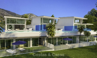Very stylish avant gardist luxury villas with panoramic sea views for sale in Benalmadena 16718