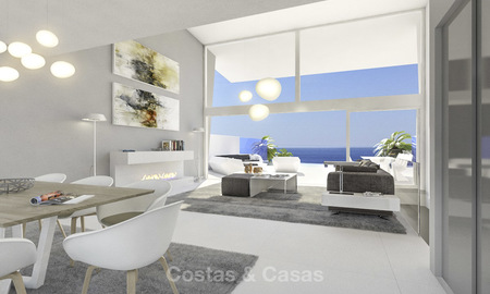Very stylish avant gardist luxury villas with panoramic sea views for sale in Benalmadena 16719