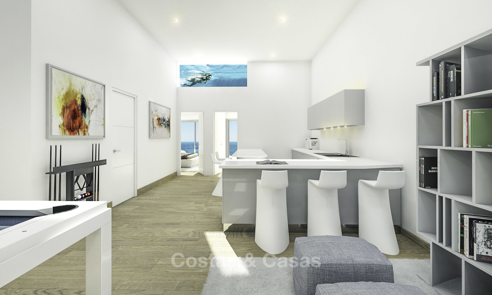 Very stylish avant gardist luxury villas with panoramic sea views for sale in Benalmadena 16720