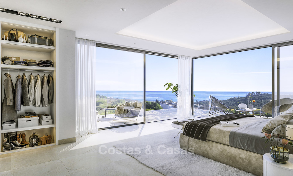 Attractive new modern luxury villas with spectacular sea views for sale, in a golf resort in Estepona 16693