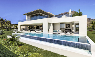 Attractive new modern luxury villas with spectacular sea views for sale, in a golf resort in Estepona 16695