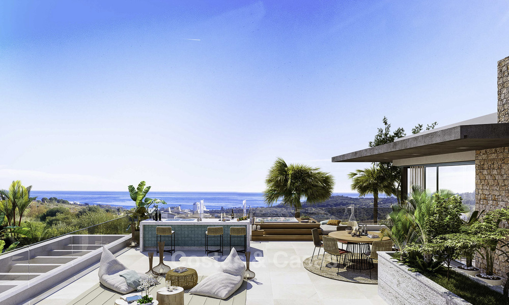 Attractive new modern luxury villas with spectacular sea views for sale, in a golf resort in Estepona 16699