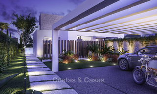 Attractive new modern luxury villas with spectacular sea views for sale, in a golf resort in Estepona 16702
