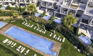 Elegant, modern and price favourable new townhouses with amazing sea views for sale in Manilva, Costa del Sol 16079
