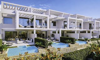 Elegant, modern and price favourable new townhouses with amazing sea views for sale in Manilva, Costa del Sol 16080