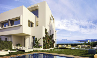 Elegant, modern and price favourable new townhouses with amazing sea views for sale in Manilva, Costa del Sol 16083