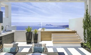 Elegant, modern and price favourable new townhouses with amazing sea views for sale in Manilva, Costa del Sol 16085