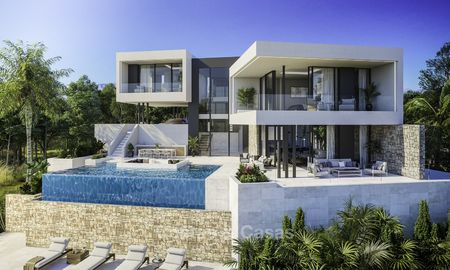 Superb modern-contemporary villa with sea views for sale in a top class golf resort, Mijas, Costa del Sol 16358