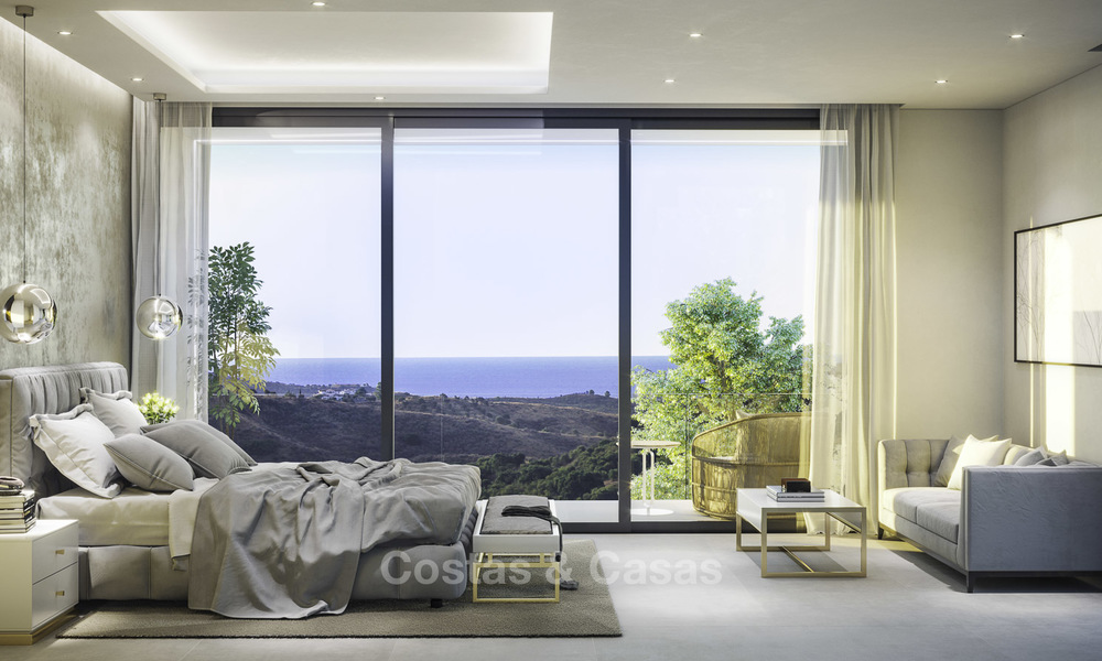 Superb modern-contemporary villa with sea views for sale in a top class golf resort, Mijas, Costa del Sol 16359