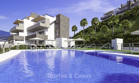 Modern luxury apartments and penthouses for sale in an esteemed golf resort in Mijas, Costa del Sol 16649