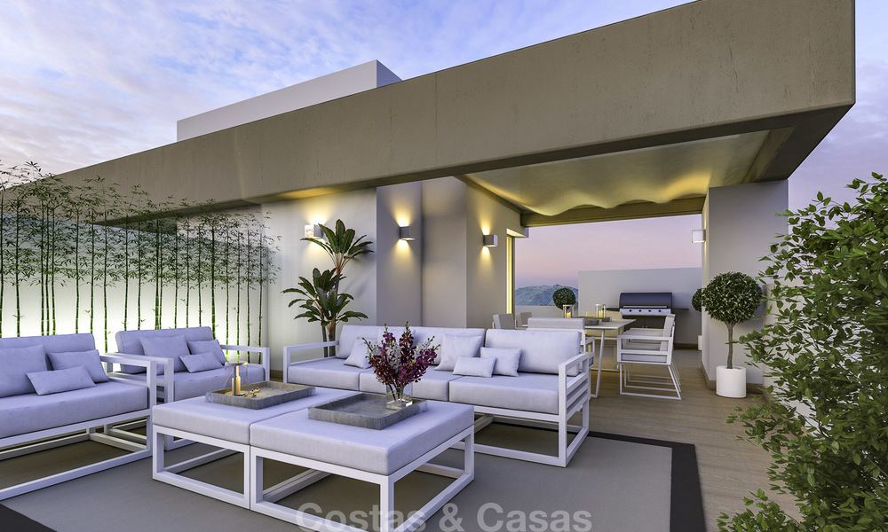 New, move-in ready, modern townhouses for sale on an acclaimed golf resort in Mijas, Costa del Sol. 10% discount! 15646