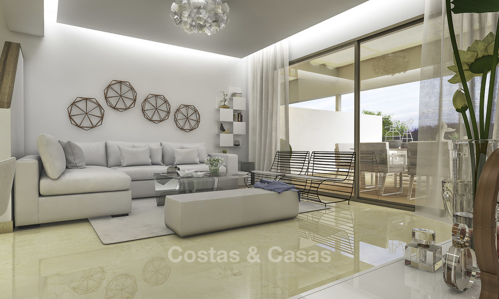 New, move-in ready, modern townhouses for sale on an acclaimed golf resort in Mijas, Costa del Sol. 10% discount! 15651