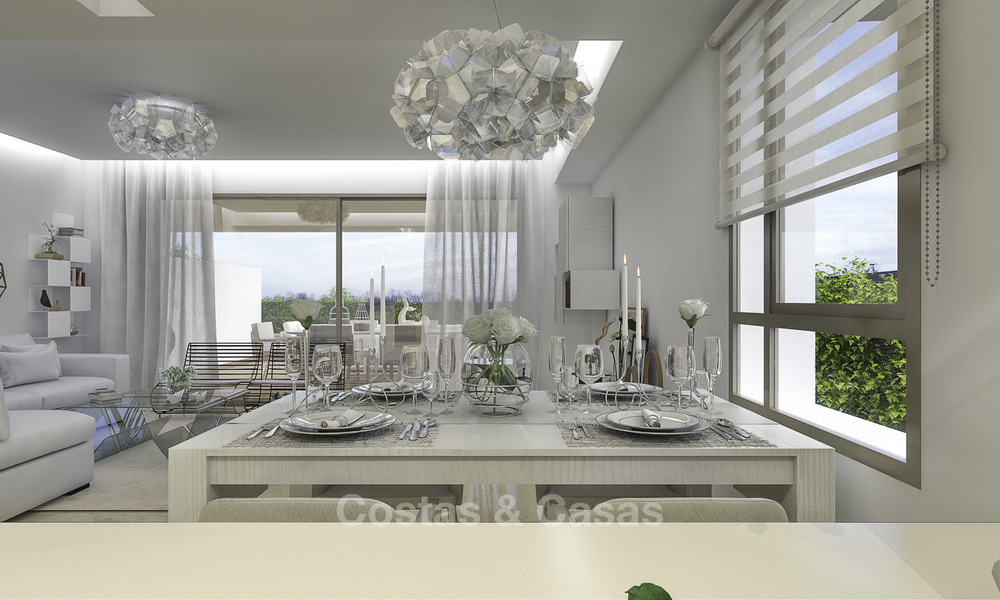 New, move-in ready, modern townhouses for sale on an acclaimed golf resort in Mijas, Costa del Sol. 10% discount! 15652