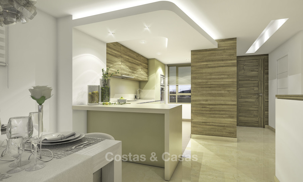 New, move-in ready, modern townhouses for sale on an acclaimed golf resort in Mijas, Costa del Sol. 10% discount! 15653