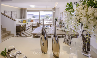 New, move-in ready, modern townhouses for sale on an acclaimed golf resort in Mijas, Costa del Sol. 10% discount! 15667