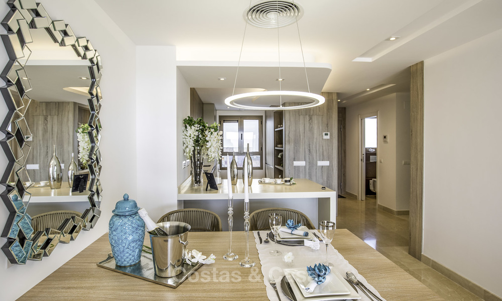 New, move-in ready, modern townhouses for sale on an acclaimed golf resort in Mijas, Costa del Sol. 10% discount! 15668