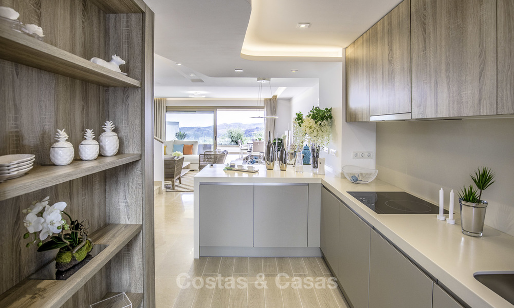 New, move-in ready, modern townhouses for sale on an acclaimed golf resort in Mijas, Costa del Sol. 10% discount! 15670